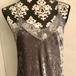 Dark silver  velvet slip dress